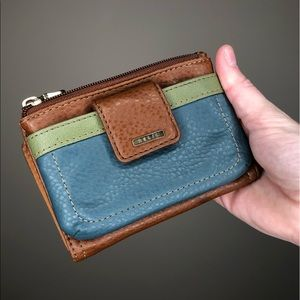 Colorblock Faux Leather Relic Wallet